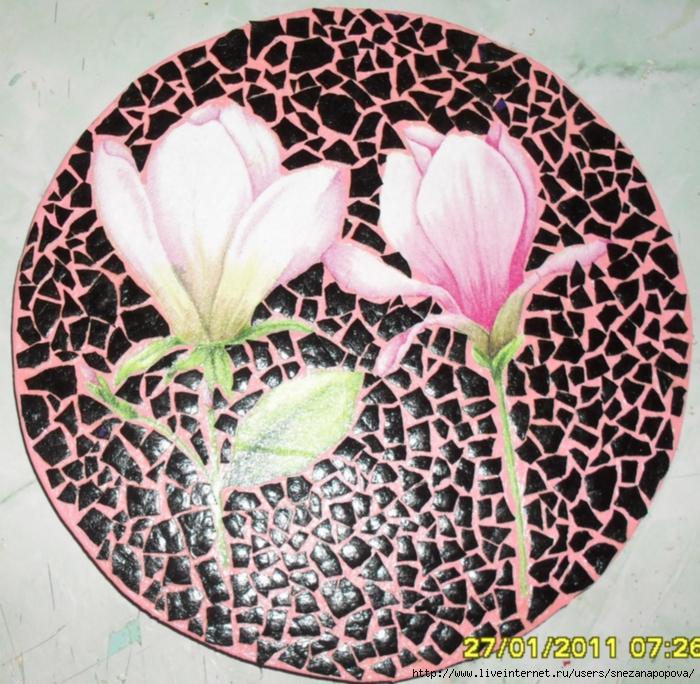 черно розовая (700x684, 438Kb)
