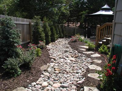 Идеи для дачи из камней 74452066_dry_creek1