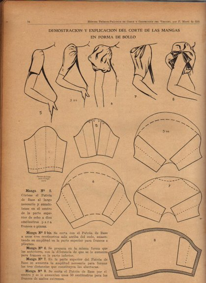 Выкройки «платья отрезные без верха с пышным рукавом» 40-52 15