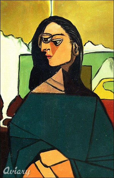 Джоконда по Пикассо (400x622, 66Kb)