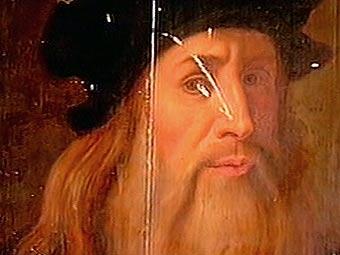 Предполагаемый портрет Леонардо да Винчи.  (340x255, 15Kb)