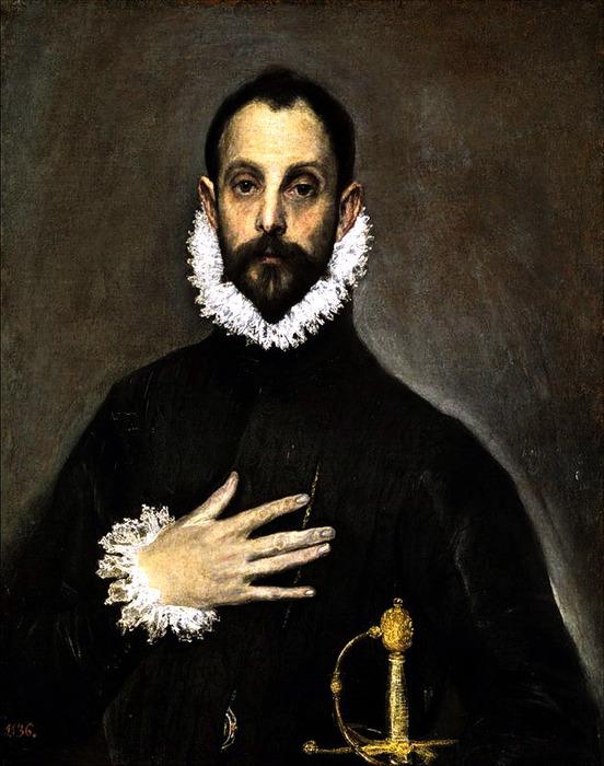 Эль Греко. Портрет рыцаря, положившего руку на грудь. Прадо (552x700, 114Kb)