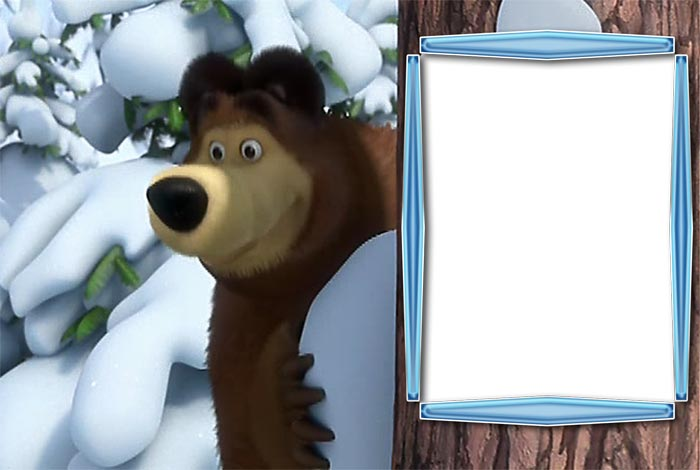 Детские рамки для фото маша и медведь