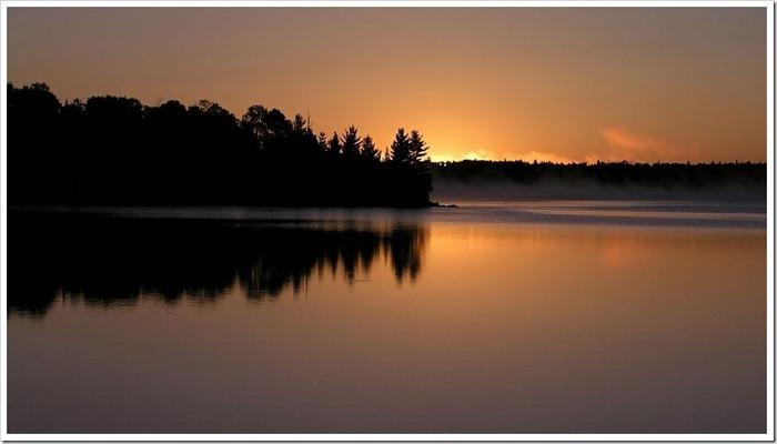 Прекрасный закат солнца 5