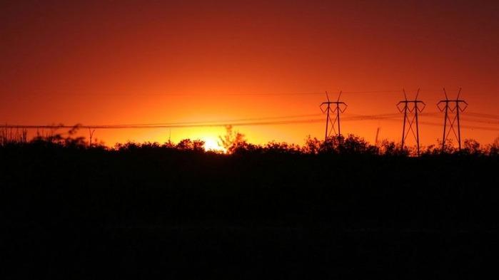 Прекрасный закат солнца 3
