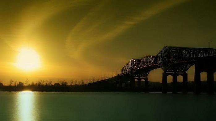 Прекрасный закат солнца 4
