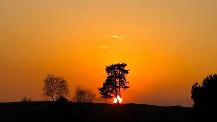 Прекрасный закат солнца 6
