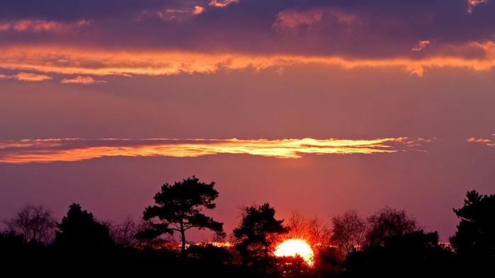 Прекрасный закат солнца 10
