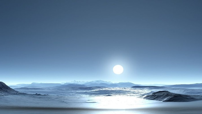 Прекрасный закат солнца 12