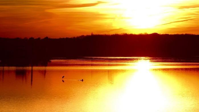 Прекрасный закат солнца 14