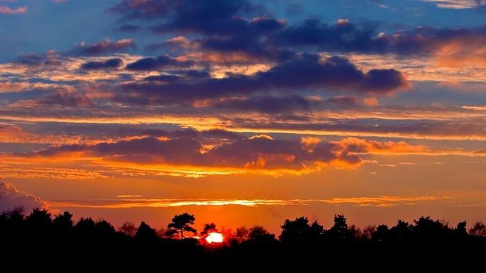 Прекрасный закат солнца 19