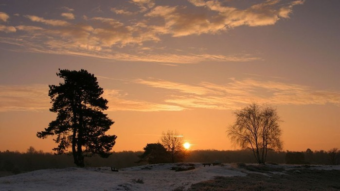 Прекрасный закат солнца 21