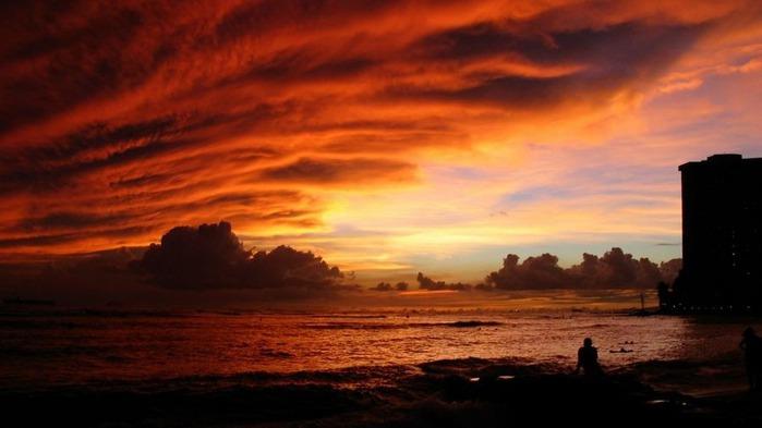 Прекрасный закат солнца 22