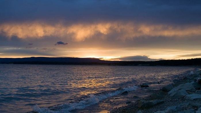 Прекрасный закат солнца 24