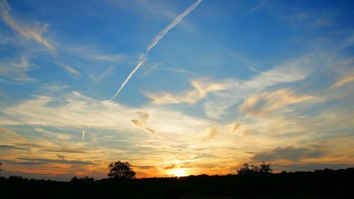 Прекрасный закат солнца 29
