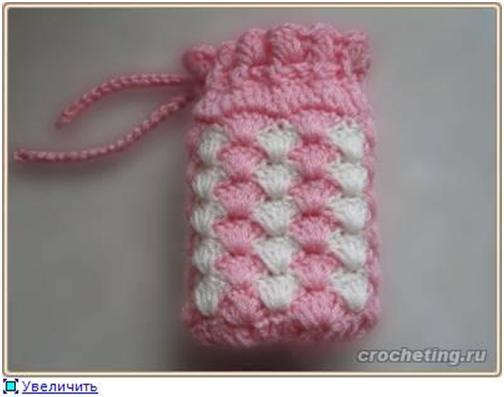 Схема для вязания чехла для телефона.