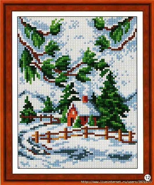 Вышивка крестиком дома