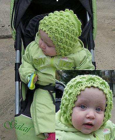 Детская шапочка крючком.