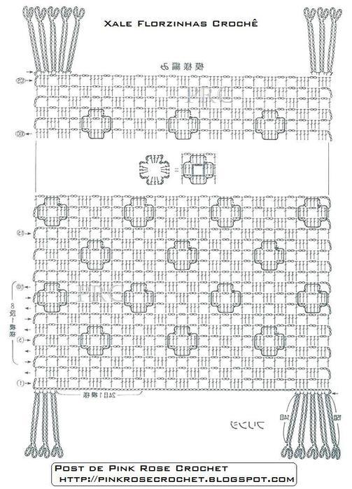 Xale Florzinhas Croche Gr. PRoseCrochet (503x700, 80Kb)