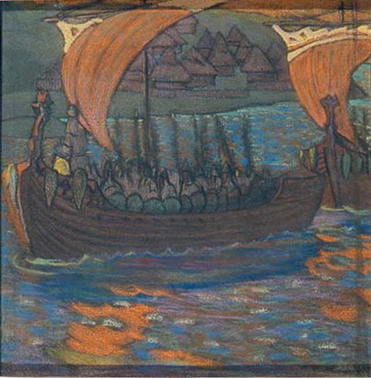 В поход на ладьях [1901] (524x534, 77Kb)