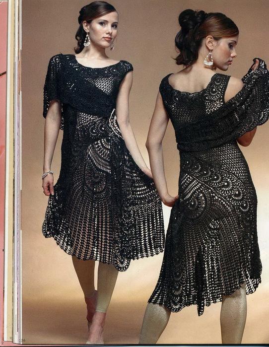 钩针:优雅的礼服裙 - maomao - 我随心动