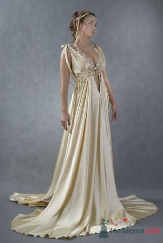 греческое платье голубое - Стильно и.