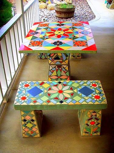 """Часть 2.  """"Часть 1. Декор Стола Бумажной Мозаикой.  Джинсовая Мебель."""