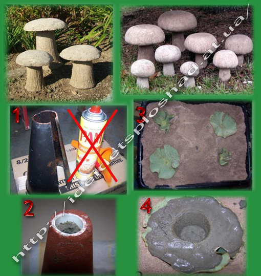 Как сделать своими руками грибы на даче