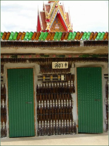 recycling ideas: temple of the bottles near bangkok.