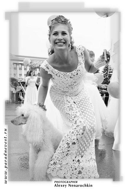 Вязаное свадебное платье . 174