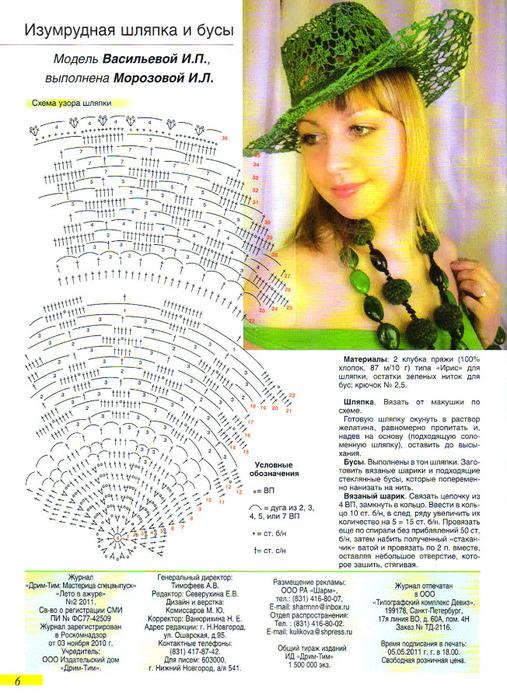 """Спецвыпуск 2 2011г  """"Лето в ажуре """".  Журнал для тех, кто умеет и любит вязать.  Комфортная летняя одежда: топы, платья..."""