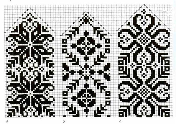 Жакардовые узоры.  Варежки.  Прочитать целикомВ. lj_ru_knitting.