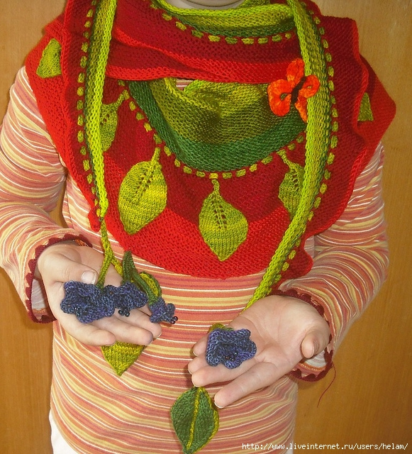 """针织围巾:""""尼斯"""" - maomao - 我随心动"""