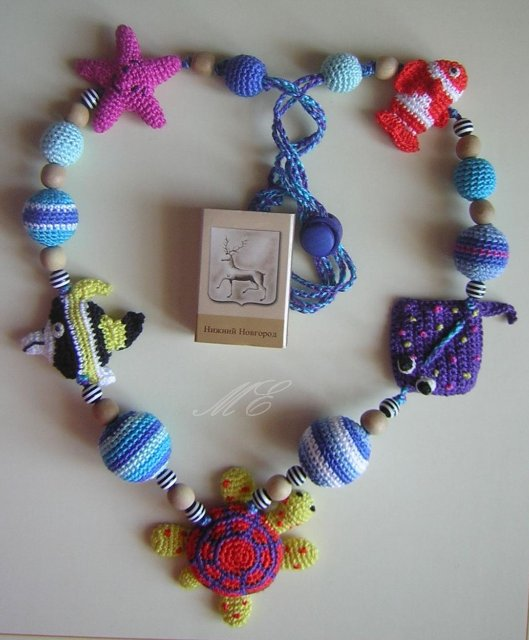 crafty jewelry: crochet bead