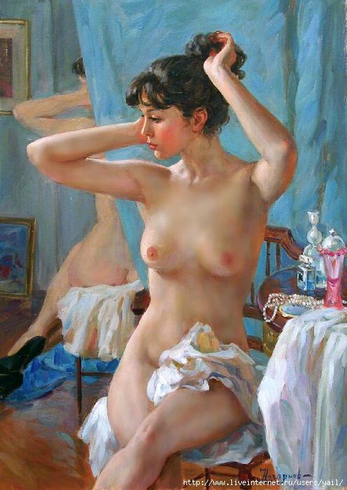 02-  Devant le miroir (495x700, 306Kb)