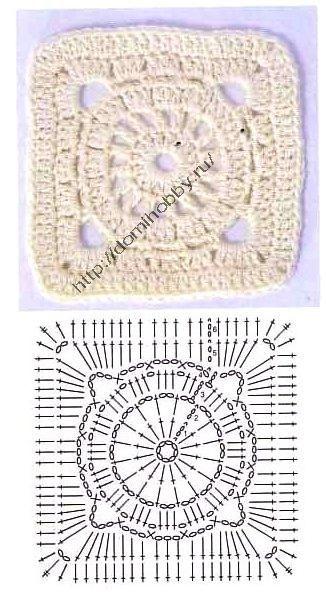 Метки: ажурный квадрат крючком квадратный мотив крючком квадратный узор крючком вязаные квадраты крючком схема...
