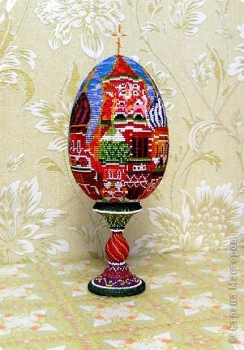 Пасхальные бисерные яйца