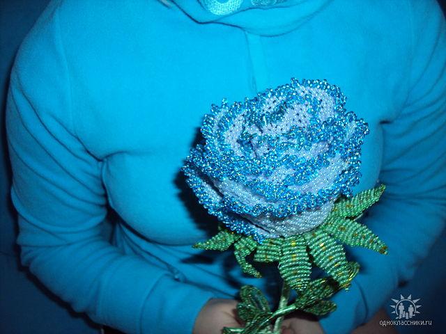 цветы из бисера схемы - роза и лист - Исскуство схемотехники.