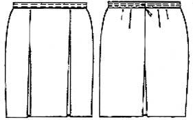 Выкройка спортивной юбки шорты
