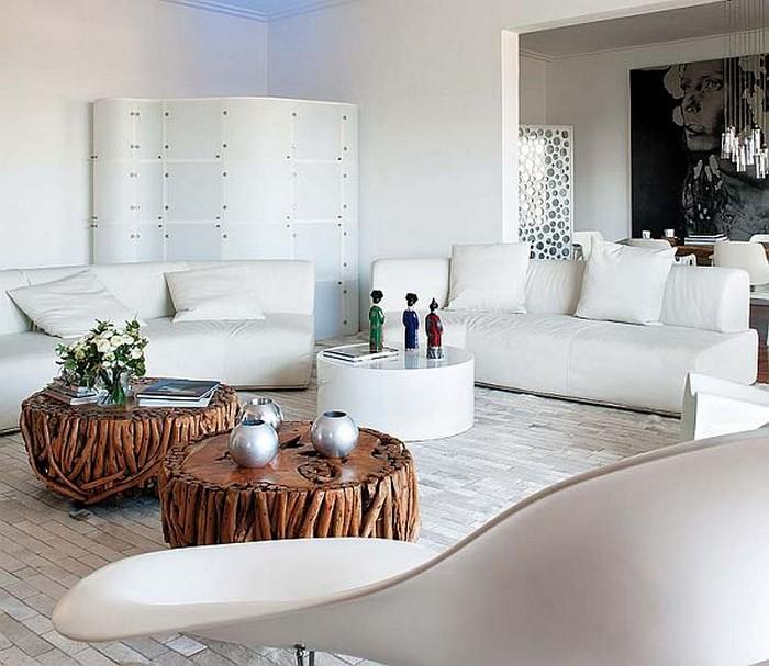 Красочное декорирование интерьера дома в Барселоне