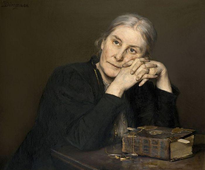 Bertha Wegmann.Женщина с книгой  (700x580, 158Kb)