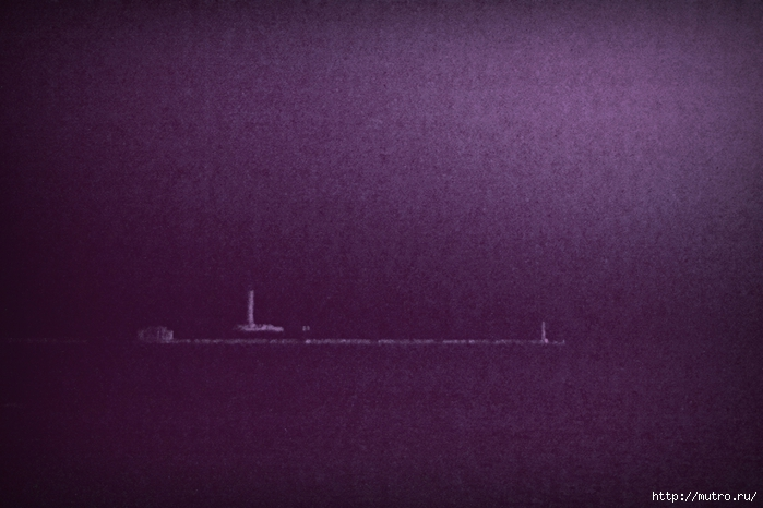 одесса в тумане, морвокзал, маяк