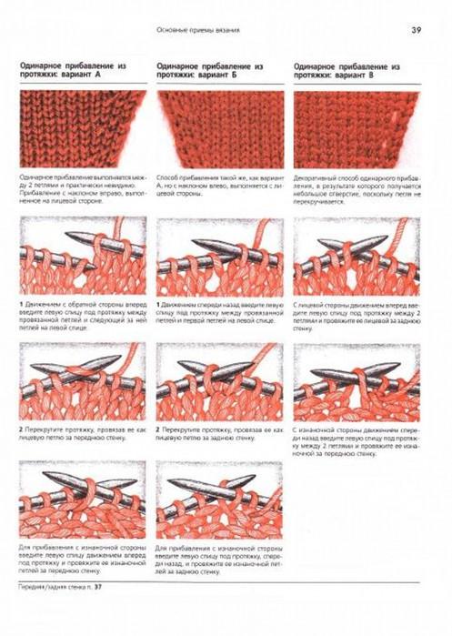Прибавить петли при вязании рукава спицами 882