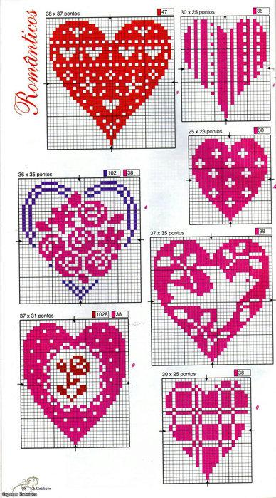 красивые сердечки (388x700