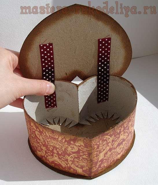 Как сделать шкатулку-сердечко из картона
