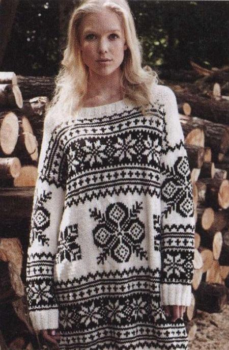 Жаккардовый свитер.