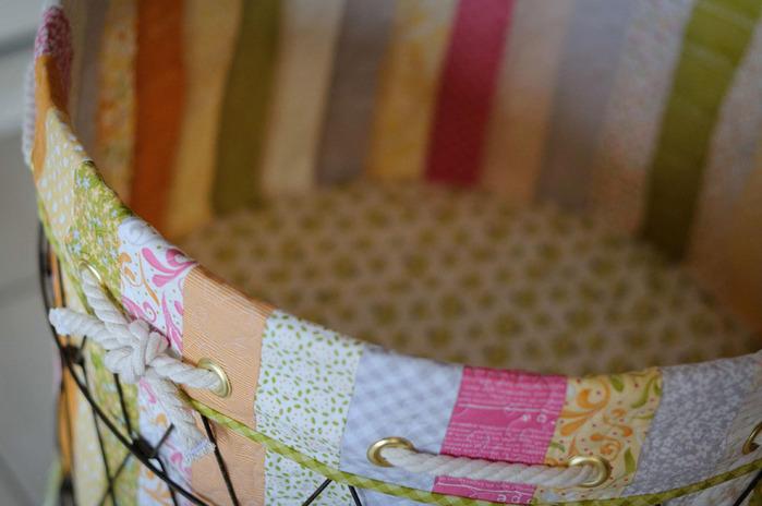 """手工布艺:""""碎布缝制篮子""""(大师班) - maomao - 我随心动"""