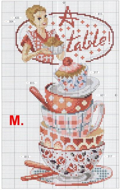 чашки красные схема (405x640,