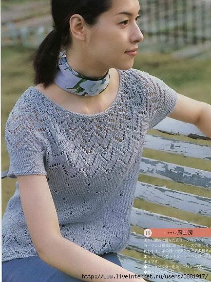 Вязание. Круглая кокетка
