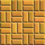 Превью Orange Padded Basketweave (350x350, 345Kb)